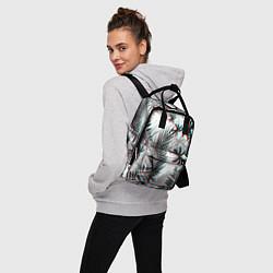 Рюкзак женский ПАЛЬМЫ TROPICAL GLITCH цвета 3D-принт — фото 2