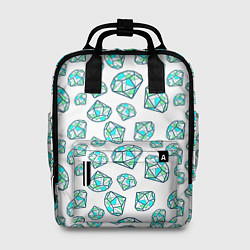 Рюкзак женский Бриллианты цвета 3D-принт — фото 1