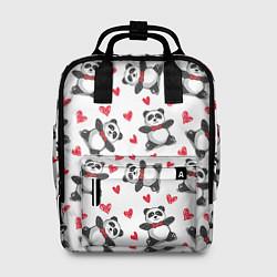 Рюкзак женский Любимые панды цвета 3D — фото 1