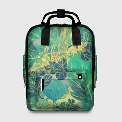 Женский рюкзак Узор из листьев