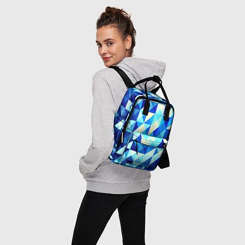 Женский рюкзак Синяя геометрия / 3D – фото 3