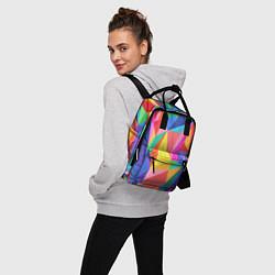 Рюкзак женский Радуга цвета 3D — фото 2
