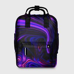 Рюкзак женский Цветные разводы цвета 3D — фото 1