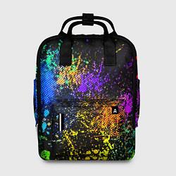Рюкзак женский Брызги красок цвета 3D — фото 1