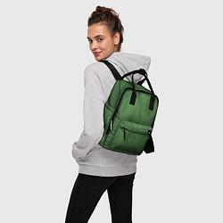 Рюкзак женский Змеиная зеленая кожа цвета 3D — фото 2