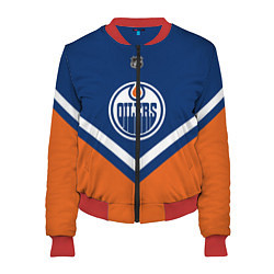 Бомбер женский NHL: Edmonton Oilers цвета 3D-красный — фото 1