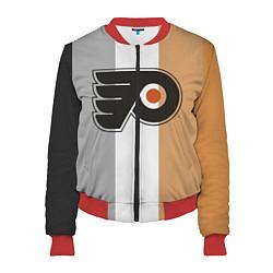 Бомбер женский Philadelphia Flyers цвета 3D-красный — фото 1