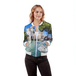 Бомбер женский Италия цвета 3D-белый — фото 2
