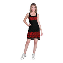 Туника женская Славянский орнамент (на чёрном) цвета 3D-принт — фото 2