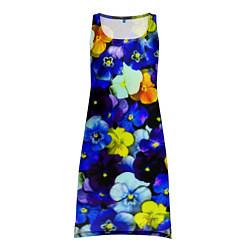 Туника женская Синие цветы цвета 3D-принт — фото 1