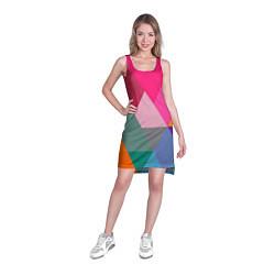 Туника женская Разноцветные полигоны цвета 3D — фото 2