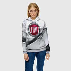 Толстовка-худи женская FIAT цвета 3D-меланж — фото 2