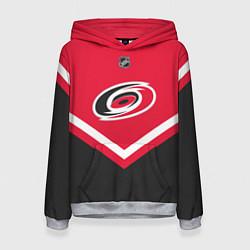 Толстовка-худи женская NHL: Carolina Hurricanes цвета 3D-меланж — фото 1