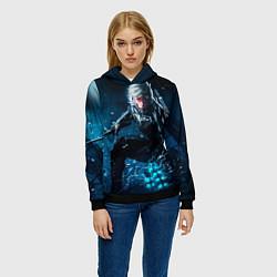 Толстовка-худи женская Metal gear solid 4 цвета 3D-черный — фото 2