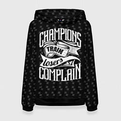 Толстовка-худи женская Champions Train цвета 3D-черный — фото 1