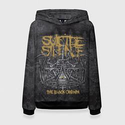 Толстовка-худи женская Suicide Silence: The Black Crown цвета 3D-черный — фото 1
