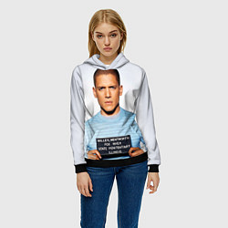 Толстовка-худи женская Prison Break: Michael Scofield цвета 3D-черный — фото 2