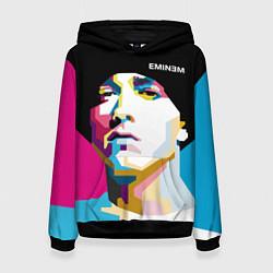 Толстовка-худи женская Eminem Poly Art цвета 3D-черный — фото 1