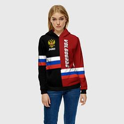 Толстовка-худи женская Volgograd, Russia цвета 3D-черный — фото 2