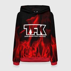 Толстовка-худи женская Thousand Foot Krutch: Red Flame цвета 3D-красный — фото 1