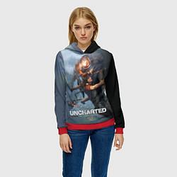 Толстовка-худи женская Uncharted: The Lost Legacy цвета 3D-красный — фото 2
