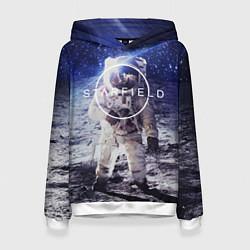 Толстовка-худи женская Starfield: Astronaut цвета 3D-белый — фото 1