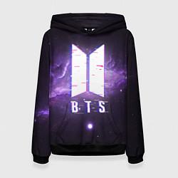 Толстовка-худи женская BTS: Violet Space цвета 3D-черный — фото 1