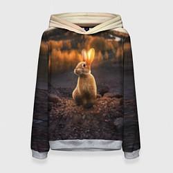 Толстовка-худи женская Солнечный зайчик цвета 3D-меланж — фото 1