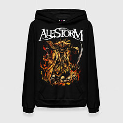 Толстовка-худи женская Alestorm: Flame Warrior цвета 3D-черный — фото 1