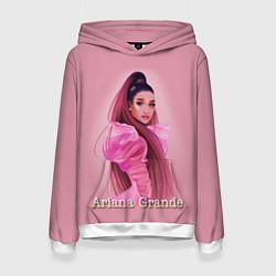 Толстовка-худи женская Ariana Grande Ариана Гранде цвета 3D-белый — фото 1