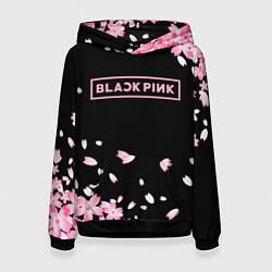 Толстовка-худи женская BLACKPINK цвета 3D-черный — фото 1