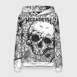 Толстовка-худи женская Megadeth цвета 3D-белый — фото 1