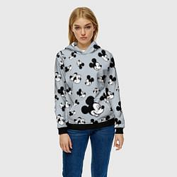 Толстовка-худи женская Микки Маус цвета 3D-черный — фото 2