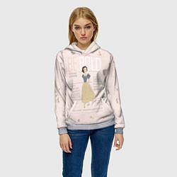 Толстовка-худи женская Белоснежка: будь смелой цвета 3D-меланж — фото 2