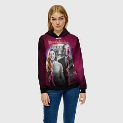 Толстовка-худи женская ВандаВижен цвета 3D-черный — фото 2