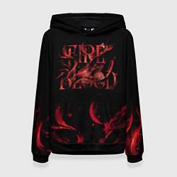 Толстовка-худи женская GoT Fire and blood цвета 3D-черный — фото 1