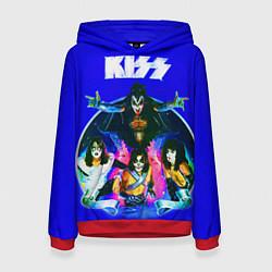Толстовка-худи женская Kiss Show цвета 3D-красный — фото 1