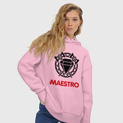 Толстовка оверсайз женская Dwarf Fighter - Maestro цвета светло-розовый — фото 2