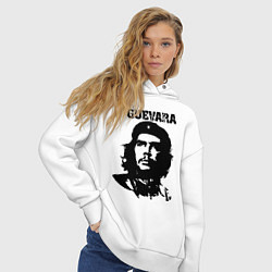 Толстовка оверсайз женская Che Guevara цвета белый — фото 2
