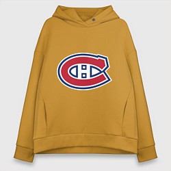 Толстовка оверсайз женская Montreal Canadiens цвета горчичный — фото 1