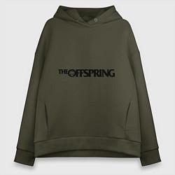 Толстовка оверсайз женская The Offspring цвета хаки — фото 1