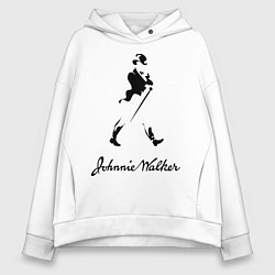 Толстовка оверсайз женская Johnnie Walker цвета белый — фото 1