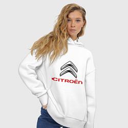 Толстовка оверсайз женская Citroen цвета белый — фото 2