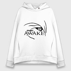 Толстовка оверсайз женская Skillet awake цвета белый — фото 1