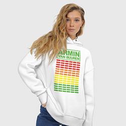 Толстовка оверсайз женская Armin van Buuren: EQ цвета белый — фото 2