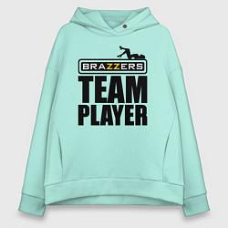 Толстовка оверсайз женская Brazzers Team Player цвета мятный — фото 1