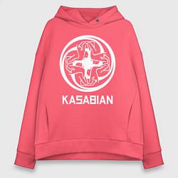 Толстовка оверсайз женская Kasabian: Symbol цвета коралловый — фото 1