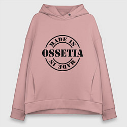 Толстовка оверсайз женская Made in Ossetia цвета пыльно-розовый — фото 1