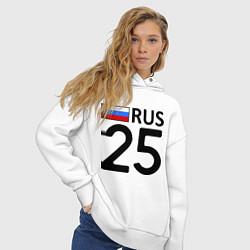 Толстовка оверсайз женская RUS 25 цвета белый — фото 2