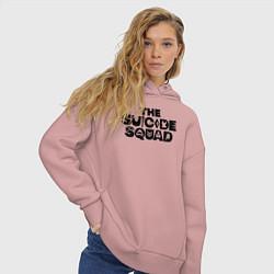 Толстовка оверсайз женская The Suicide Squad цвета пыльно-розовый — фото 2